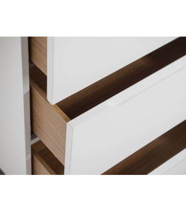 Mueble cajonera en madera y acero colección SIGMA