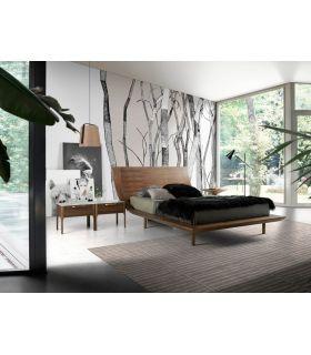 Comprar online Cama de Diseño Italiano en madera de Nogal modelo DENVER