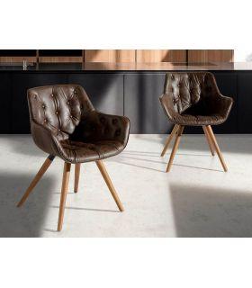 Comprar online Silla tapizada con asiento con capitoné modelo DRAGMA