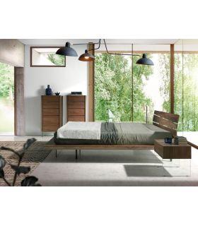Comprar online Cama de Diseño Italiano en madera de Nogal modelo BOLTON