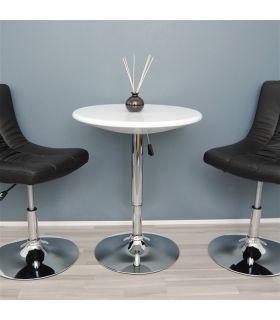 Comprar online Set de 2 Mesas Altas de Interior : Modelo AMIRA Blanco