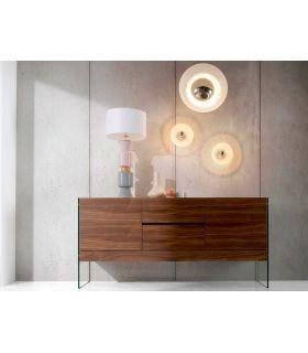 Comprar online Mueble Aparador de madera y cristal templado OLIMPO