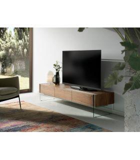 Comprar online Mesa de televisión con patas de cristal templado modelo DRUANA