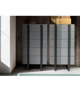Comprar online Cajonera de diseño moderno en acero y madera colección DELTA