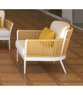 Comprar online Sillón de terraza y jardín en aluminio y cuerda Colección ARENA