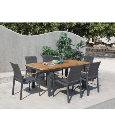 Silla con brazos de terraza y jardín colección LAGOS