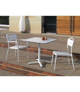 Comprar online Mesa cuadrada para Terrazas : Modelo CANCUN blanco