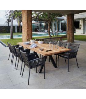 Comprar online Mesa de exterior rectangular ALASKA madera de teca y aluminio