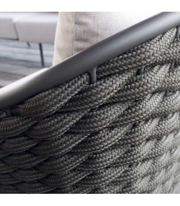 Sillón de 1 Plaza en Aluminio y fibra sintética Colección SERPENT
