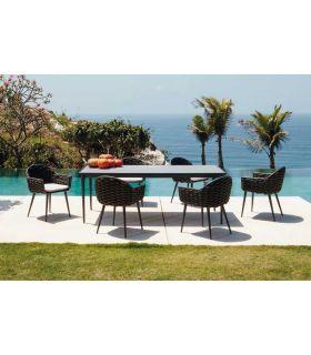 Comprar online Mesa Rectangular de Aluminio para exterior Colección SERPENT