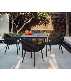 Comprar online Mesa Cuadrada de Aluminio para exterior Colección SERPENT