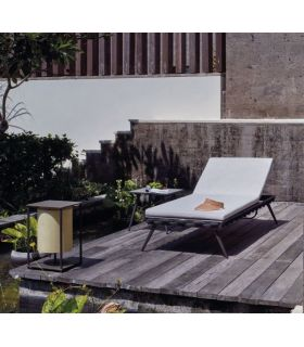 Comprar online Tumbona de terraza y jardín en aluminio y fibra sintética Colección SERPENT
