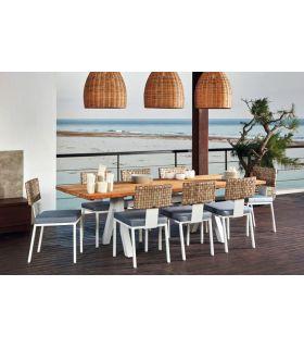 Comprar online Mesa de exterior rectangular ALASKA aluminio blanco