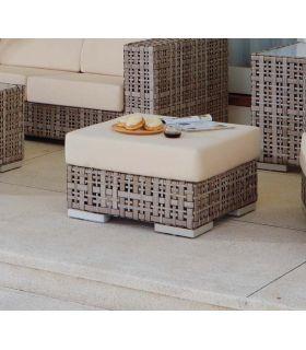 Comprar online Banqueta de rattan sintético para exterior Colección MARTIN