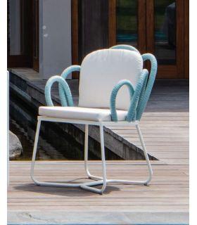 Comprar online Silla de comedor en aluminio y cuerda sintética Colección TUSCANY