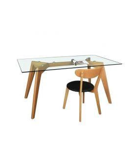 Comprar online Mesas para salón de Madera y Cristal : Modelo AFRICA