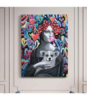 Comprar online Pintura decorativa en acrílicos Modelo DAMA ARMIÑO POP