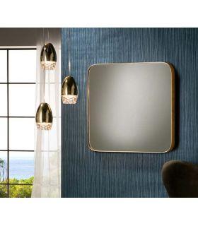 Comprar online Espejo Cuadrado de Diseño en pan de Oro Colección ORIO