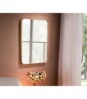 Comprar online Espejo Rectangular de Diseño en pan de Oro Colección ORIO