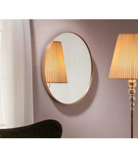 Comprar online Espejo con marco Ovalado en pan de Oro Colección ORIO