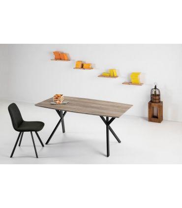 Mesa de Comedor en Madera y Metal : Modelo IRENE