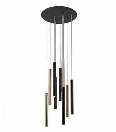 Lámpara de Techo LED Colección VARAS 9 Luces Negro/Oro