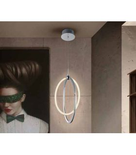 Comprar online Colgante LED de estilo moderno Colección OCELLIS Cromo