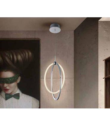Colgante LED de estilo moderno Colección OCELLIS Cromo