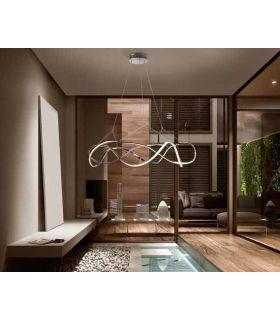 Comprar online Lámpara moderna con Iluminación LED Colección MOLLY Cromo GR