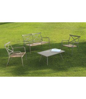 Comprar online Conjunto de mesa de centro y sillones de exterior Colección ALGARVE