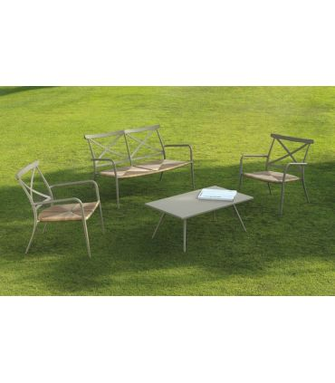Conjunto de mesa de centro y sillones de exterior Colección ALGARVE