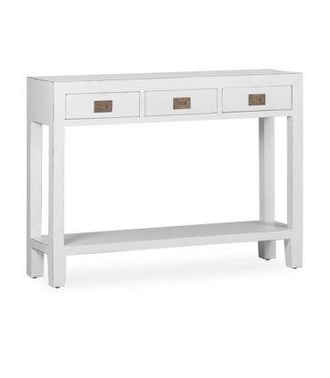 Consola de madera lacada en blanco Colección EVEREST