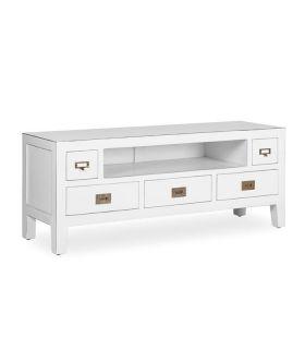 Comprar online Mesa de televisión en madera natural de Mindi Colección EVEREST