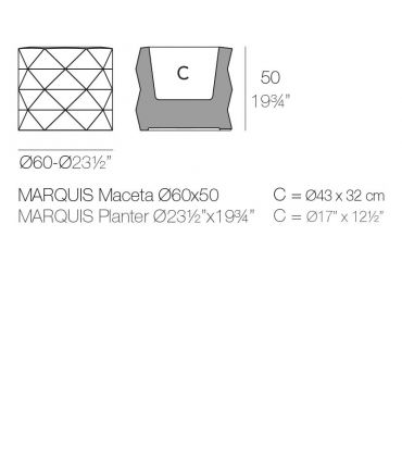 Maceteros de Exterior : Modelo MARQUIS
