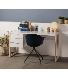 Comprar online Escritorio de madera modelo FRANK Blanco