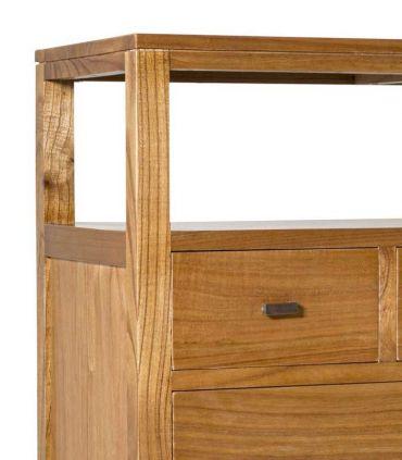 Cómoda de madera y metal Colección MADHU Moycor