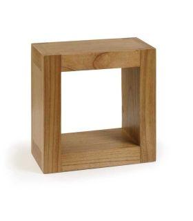 Comprar online Estante cuadrado de madera natural de Mindi MADHU