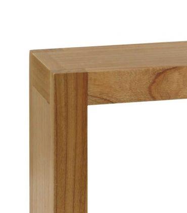 Estante cuadrado de madera natural de Mindi MADHU