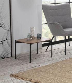 Comprar online Mesa auxiliar en madera y metal modelo IDARA