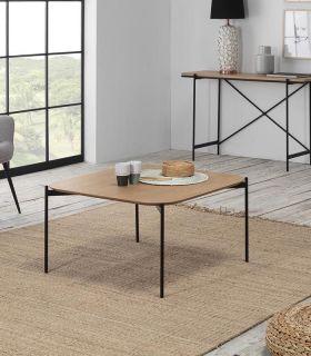 Comprar online Mesa de centro en madera y metal modelo IDARA