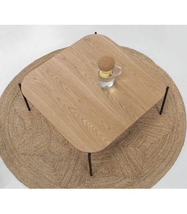 Mesa de centro en madera y metal modelo IDARA