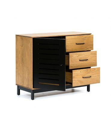 Mueble Auxiliar taquillón en madera de pino Colección ALESSIA