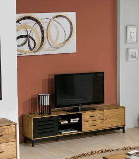 Comprar online Mesa de Televisión en madera de pino Colección ALESSIA