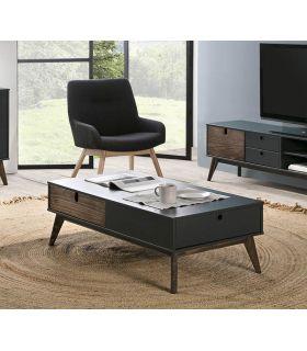 Comprar online Mesa de centro en madera de pino Colección KIARA Antracita