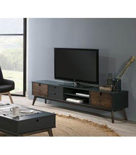 Comprar online Mesa de Televisión en madera de pino Colección KIARA Antracita