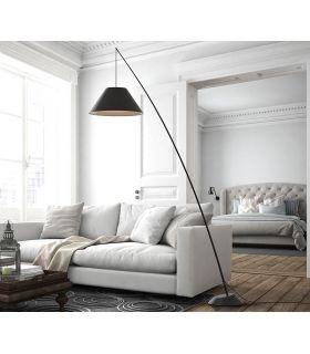 Comprar online Lámpara de pie en fibra de carbono modelo JUNCO Negro