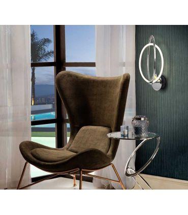 Aplique LED de diseño moderno Colección OCELLIS Cromo