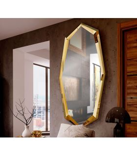 Comprar online Espejo Vestidor en Acero Modelo LONDON Oro