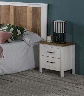 Comprar online Mesita de noche en madera de pino Colección MIRANDA
