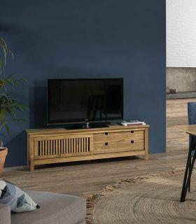 Comprar online Mesa de Televisión en madera natural de pino Colección BRUNA